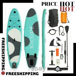 Inflatable Paddle Board (6 Inches Thick) Premium Stand Up SUP Accessories