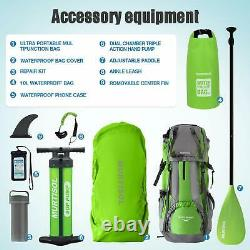 Inflatable Paddle Board Stand Up Paddle Board with Premium Accessories Green