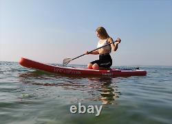 Inflatable Paddle Board Stand Up Paddleboard 10FT Surfboard Non-Slip Red