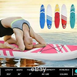 Inflatable SUP Stand Up Paddle Board, Paddle, Pump, Carry Bag Pink 10'10x30x6