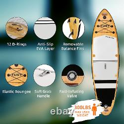 Inflatable Stand Up Paddle Board 10'6 SUP Paddleboard Surfboard Kayak Surf Fish