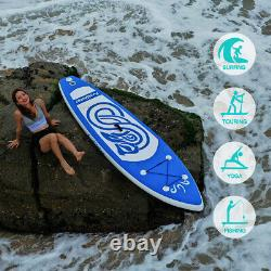 Inflatable Stand Up Paddle Board 10ft SUP Surfboard with complete kit 6'' thick