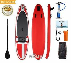 Inflatable Stand Up Paddle Board (6 inches Thick) 10' SUP Boards with Paddle, Pump