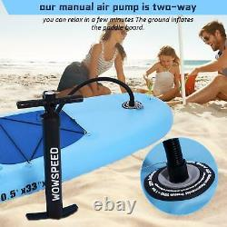 Inflatable Stand Up Paddle Board SUP Surfboard with Complete Seat kit 6'' Thick