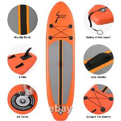 Inflatable Stand Up Paddle Board Surfboard SUP withFin+Complete Kit+Bag 6thick US