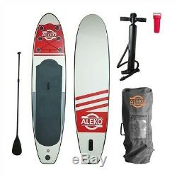 Inflatable Stand Up Paddle Board with Carry Bag Wood Grain