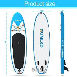 Inflatable Stand Up Paddle Board with One-Way Dedicated Pump & Backpack 4'' Thick