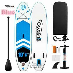 Latest SCE Technology Inflatable Stand Up Paddle boards Blue Pump Paddle Fin Bag