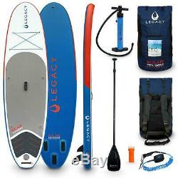 Legacy SOLAIR 10'8 Inflatable Stand Up Paddle Board SUP Package Paddle Bag Pump