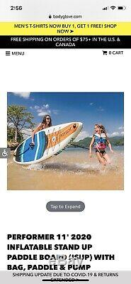 NEW Body Glove Performer 11 Inflatable Stand Up Paddle Board 2020