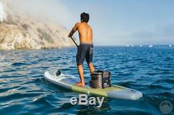PEAK 10'6 All Around Inflatable Stand Up Paddle Board Package White/Grey/Green