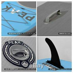 PEAK All Around 10'6 Blue Inflatable Stand Up Paddle Board Package