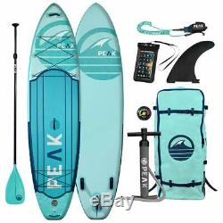PEAK Expedition 11' Inflatable Stand Up Paddle Board Package