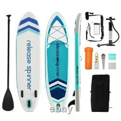 Premium 10FT Hydro-Force Inflatable Stand Up Paddle Board SUP Surfboard 6 Thick