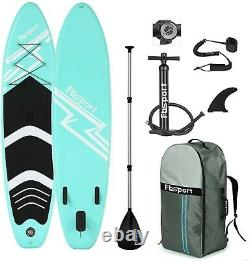 Premium Inflatable Stand Up Paddle Board (6 inches Thick) with Durable 10ft