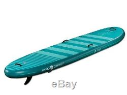 Pro6 P6-Yoga ISUP Inflatable Stand-Up Paddle Board 126x35x6, 10' 6 Dark Teal