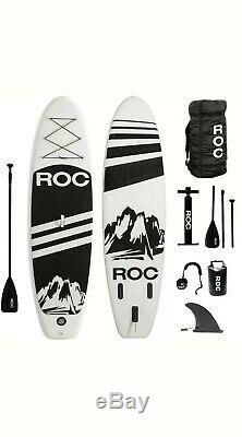 Roc Inflatable Stand Up Paddle Board Free Premium SUP Accessories/Backpack