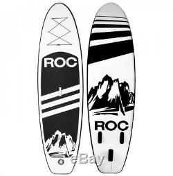 Roc Inflatable Stand Up Paddle Board with Free Premium SUP Accessories Black