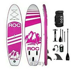 Roc Inflatable Stand Up Paddle Boards W Free Premium SUP Accessories & Backpack