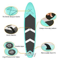 SUP 10.6' Inflatable Stand Up Paddle Board Surfboard with Complete Kit 6'' Thick