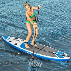 SUP Inflatable Stand Up Paddle Board 10' Standing Paddleboard, Blue Surfboard