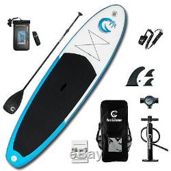 SUP Inflatable Stand Up Paddle Board 11'x32x6 withAd Paddle, Backpack, leash, pump