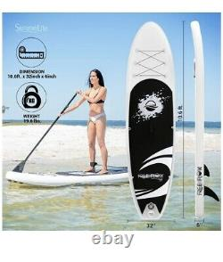 SereneLife Inflatable Stand Up 6 thick Paddle Board Premium SUP Accessories NEW