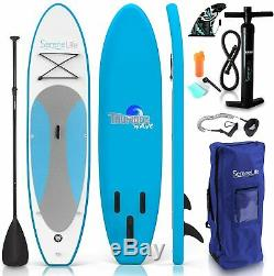 SereneLife Inflatable Stand Up Paddle Board (6 Inches Thick) MARINE BLUE