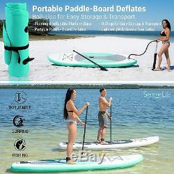 SereneLife Inflatable Stand Up Paddle Board (6 Inches Thick) OLIVE GREEN
