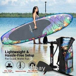 SereneLife Inflatable Stand Up Paddle Board Wide Stance, 6 Inches ACCESSORIES ++