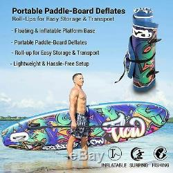 SereneLife Inflatable Stand Up Paddle Board with Premium SUP Accessories! NEW