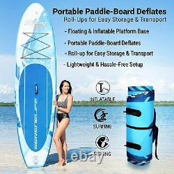 SereneLife SLSUPB518 Inflatable Stand Up Paddle Board Youth & Adult Standing