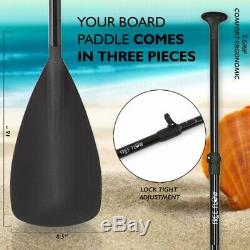 Serene-Life SLSUPB08 11 FT Inflatable Stand Up Paddle Board (SUP) With Accessories