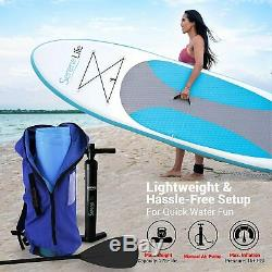 Serene-Life SLSUPB10 10 FT Inflatable Stand Up Paddle Board (SUP) With Accessories