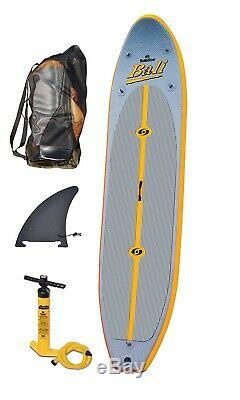 Solstice Bali Inflatable SUP Stand Up 10' 8 Paddleboard, Carry Bag and Pump
