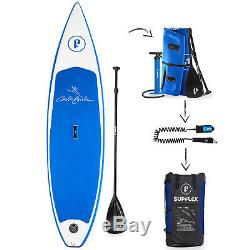 Supflex 10'8 All-Around Inflatable Stand Up Paddle Board, Paddle, Fins, Leash, Bag