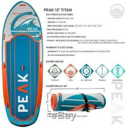 Titan Royal Blue Multi Person Inflatable Stand Up Paddle Board With 2Adj Paddles