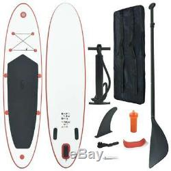 VidaXL Stand Up Paddle Board Set SUP Surfboard Inflatable Surf Red and White