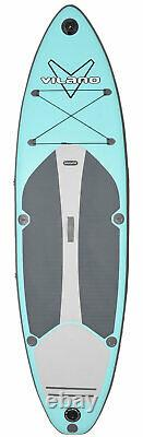 Vilano Navigator 10' (6 Thick) Inflatable SUP Stand Up Paddle Board Package