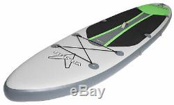 Vilano Voyager 11' Inflatable SUP Stand Up Paddle Board Package, 6 Thick