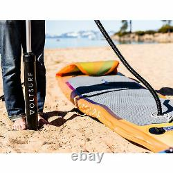 VoltSurf 11 Foot Inflatable SUP Stand Up Paddle Board Kit with Pump, Yellow (Used)