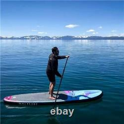 VoltSurf 11 Foot Rover Inflatable Stand Up Paddle Board Kit with Pump, Black(Used)