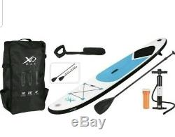 XQ Max Red Paddle Board Sports Surf Inflatable Stand Up SUP Bag Pump Oar Blue