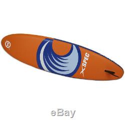 Xspec Inflatable Stand Up Paddle Board 10'x32x6, Blue & Orange